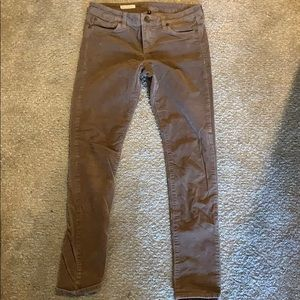 Tan corduroy skinny pants